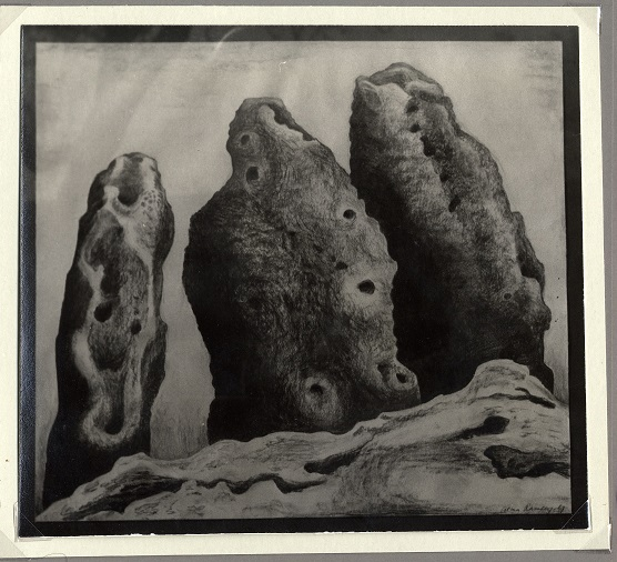 Charcoal drawing of Rollwright Stones