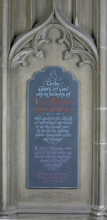 Memorial to Dick Hosking